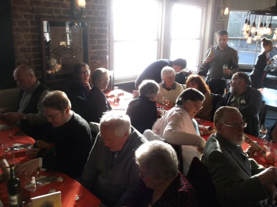 Members of the George Borrow Society at Christmas lunch, 2014