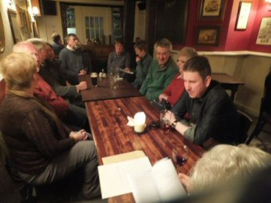 Some of the members of the Society at The Chough, Salisbury, on Friday